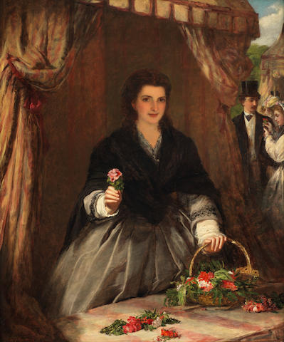 William Powell Frith, RA (British, 1819-1909) The flower seller