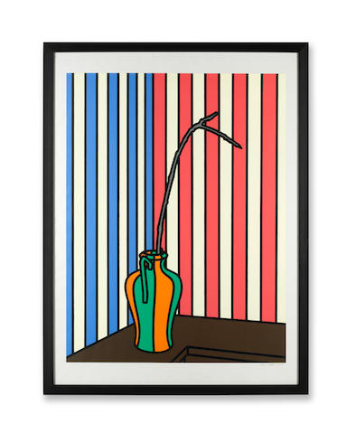 Patrick Caulfield R.A. (British, 1936-2005) Fig Branch Screenprint in colours, 1972, on wove, signed and numbered 57/72 in pencil, printed by Kelpra Studio, London, published by Leslie Waddington Prints, London, with full margins, 868 x 662mm (34 1/8 x 26in)(I)