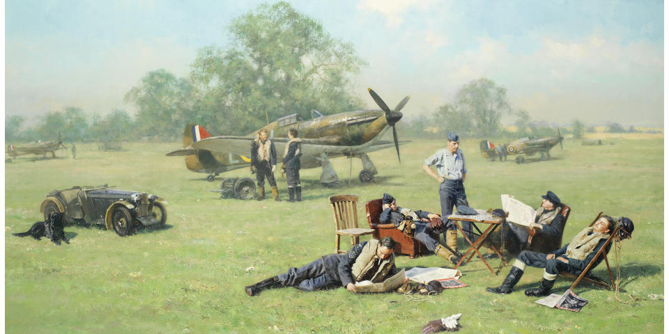 David Shepherd C.B.E. (British, 1931-2017) At Readiness - Summer of '40