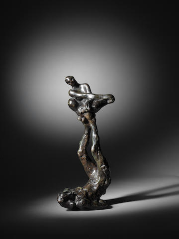 AUGUSTE RODIN (1840-1917) Acrobate (le jongleur) 29cm (11 7/16in). high (Conceived circa 1892 – 1895, this bronze version cast in September 1956 by the Georges Rudier foundry in a numbered edition of 13 plus one unnumbered cast.)