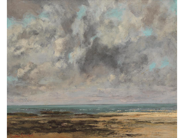 Gustave Courbet (French, 1819-1877) La plage de Saint-Aubin