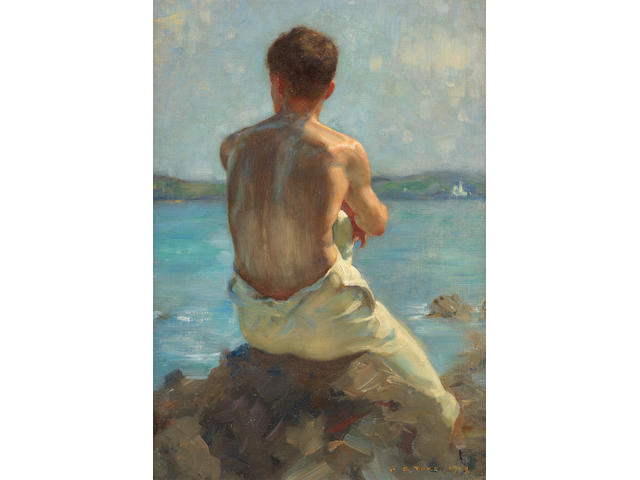 Henry Scott Tuke, RA, RWS (British, 1858-1929) The Lighthouse