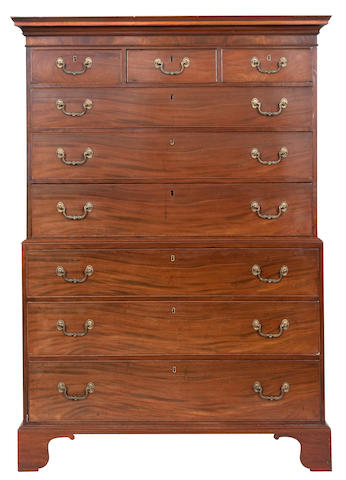 A George III mahogany chest on chest