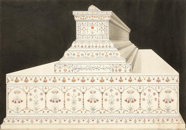 A large and impressive view of the south end of Shah Jahan's cenotaph Company School, Agra, circa 1820