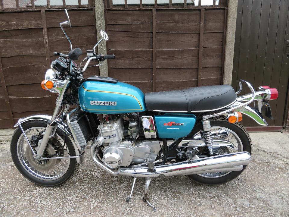 1976 Suzuki GT750 Frame no. 70566 Engine no. 77450