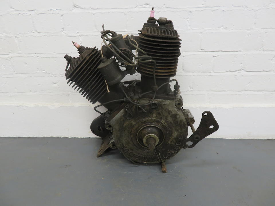 A believed c.1912 J.A.P v-twin sv motorcycle engine