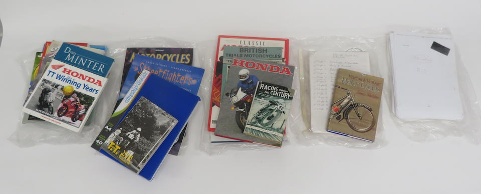 A selection of motorcycle books  ((Qty))