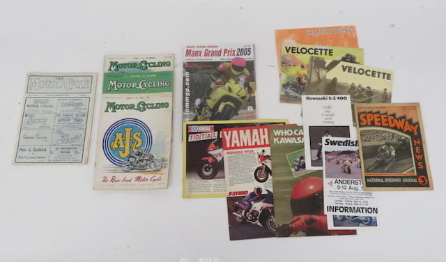 A selection of motorcycle publications,