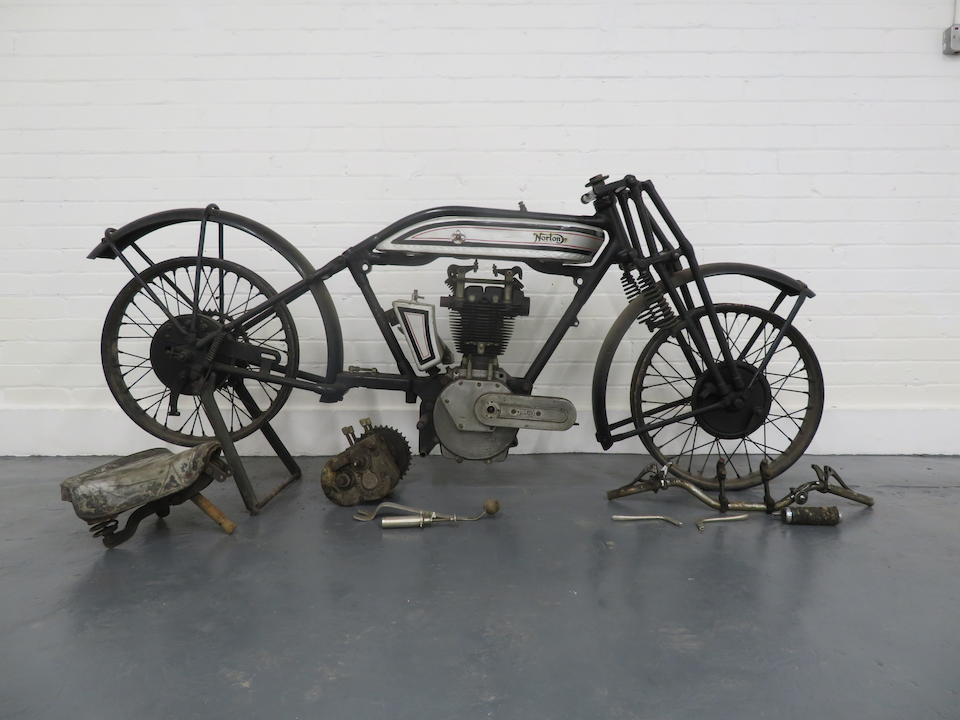 1927 Norton 490cc Model 18 Racing Motorcycle Project Frame no. 27739 Engine no. 35037