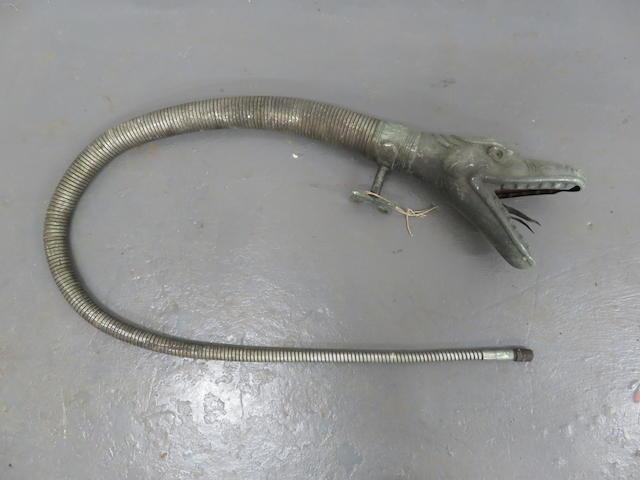 A Boa Constrictor 'Snake's Head' bulb horn