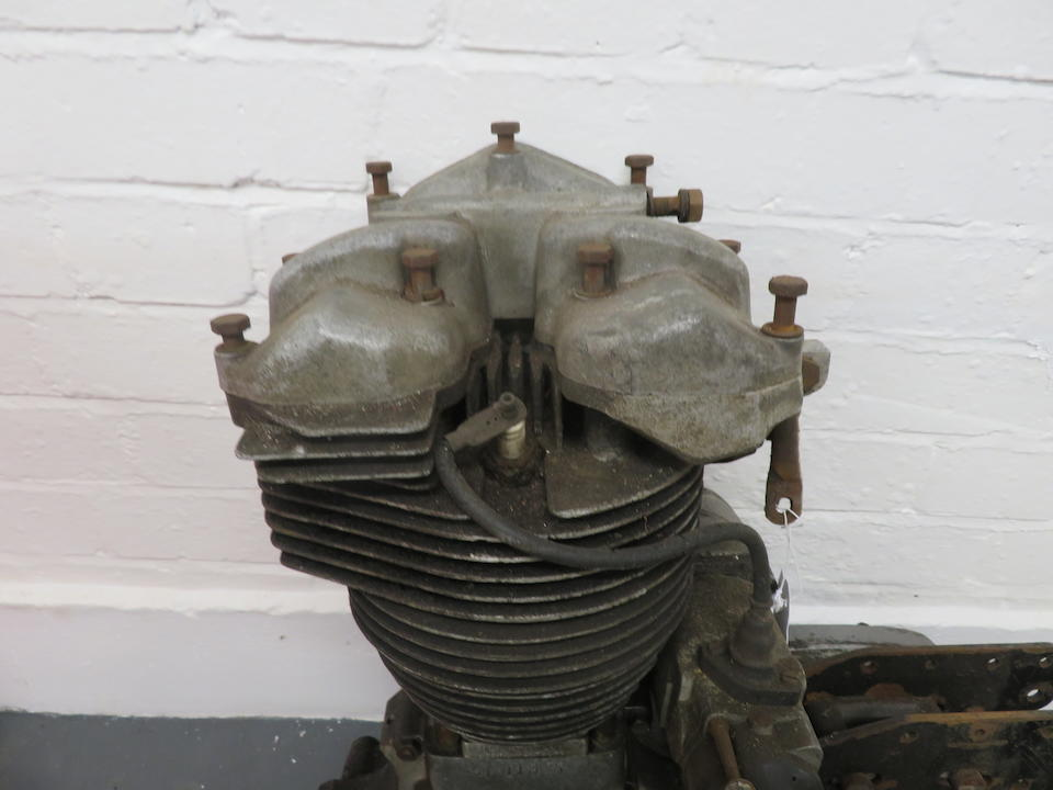 A Velocette MSS engine and gearbox