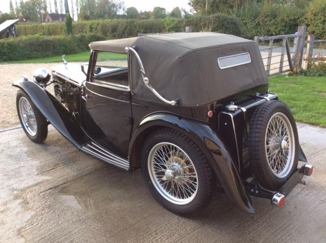 1938 MG Midget TA Tickford Drophead Coupé  Chassis no. TA 2654
