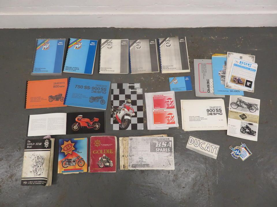A quantity of MV Agusta literature