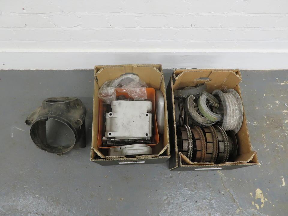 A selection of Royal Enfield parts