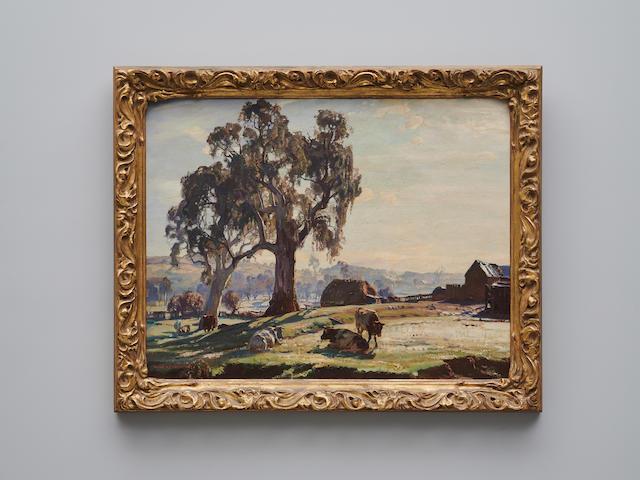 Hans Heysen (1877-1968) The Farmyard, Frosty Morning, 1926
