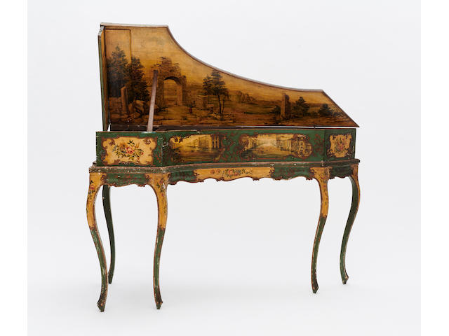 A RARE AND BEAUTIFUL VENETIAN ROCOCO HARPSICHORD18th-19th century and later