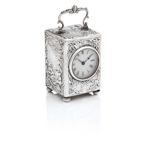 A Victorian silver cased timepiece London 1899