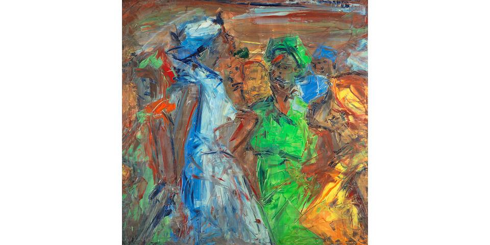 Ablade Glover (Ghanaian, born 1934) Women at the market
