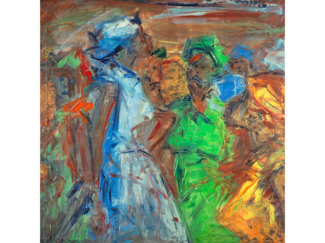 Ablade Glover (Ghanaian, born 1934) Women at the market