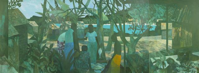 Ray Crooke (1922-2015) The Morning Catch, Fiji Island, 1969-71