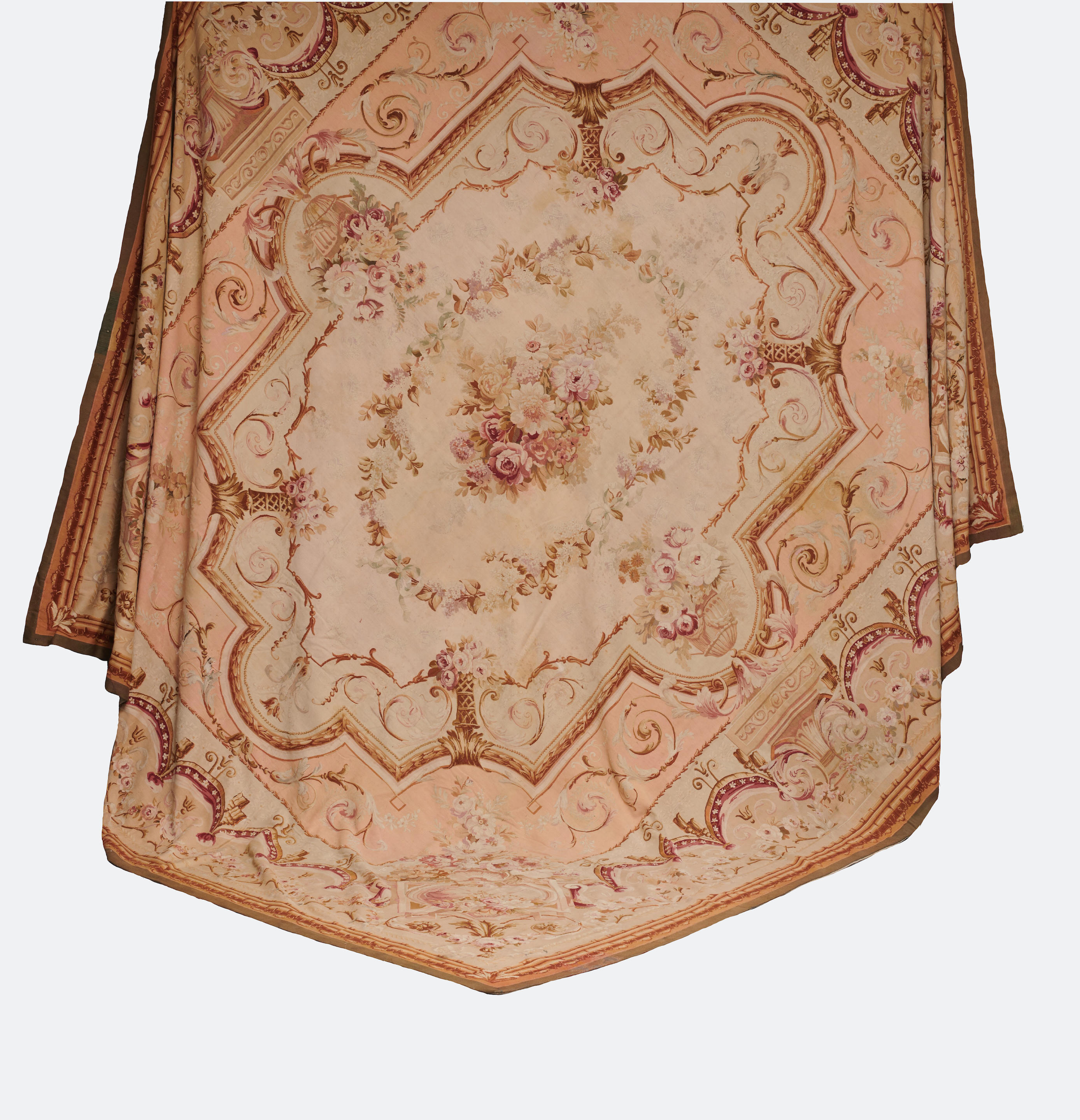 AN AUBUSSON TAPESTRY CARPET