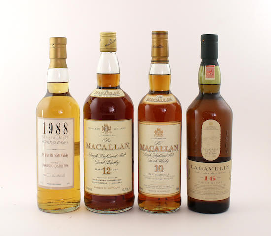 Linkwood-18 year old-1988 The Macallan-12 year old The Macallan-10 year old Lagavulin-16 year old Dalwhinnie-15 year old The Glenlivet-12 year old (2)  Glenfiddich-12 year old Laphroaig-10 year old Aberlour-10 year old Speyside-12 year old