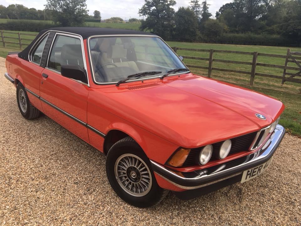 1982 BMW 320i Baur Convertible  Chassis no. WBAAH2208C6749461