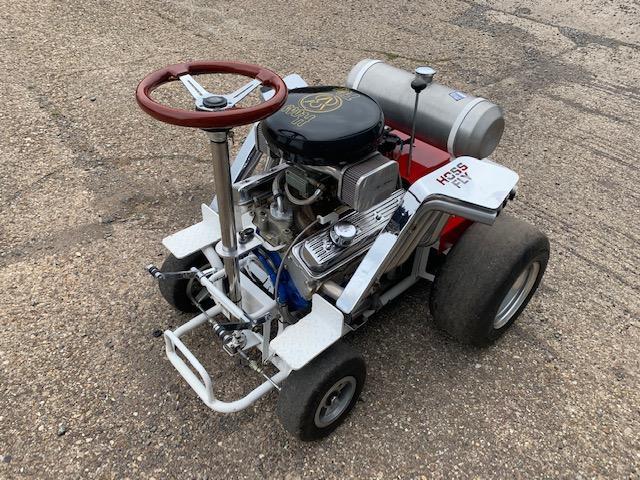 A Hoss Fly Chevrolet V8 powered barstool,