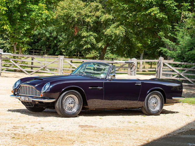 Offered from the estate of the late Peter Phillips,1969 Aston Martin DB6 Mark 2 Volante Convertible to Vantage Specification  Chassis no. DB6MK2VC/3754/R