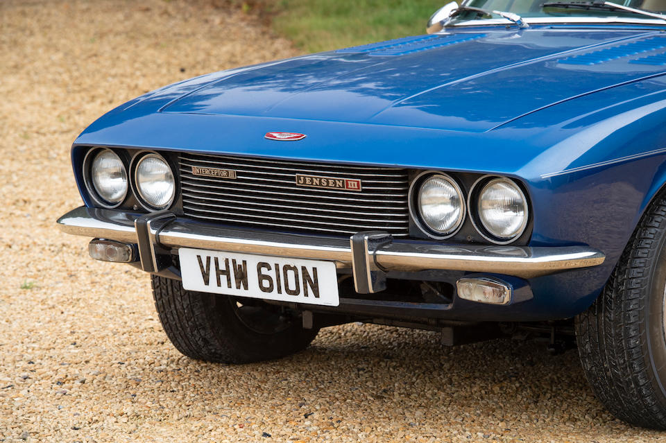Offered from the estate of the late Peter Phillips,1974 Jensen Interceptor Series III Sports Saloon  Chassis no. 9710