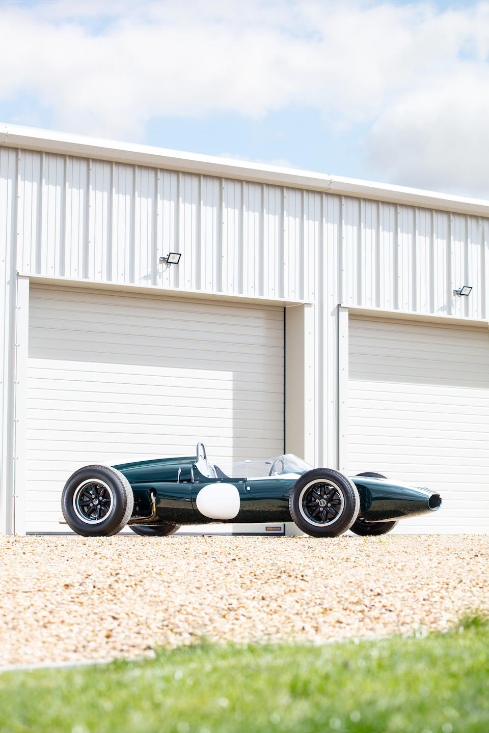 The ex-works, Sir Jack Brabham, Aintree '200', Levin, Lakeside, and Sandown Park-winning,1961 Cooper Climax 1.5-2.5-liter T55 'Slimline' Formula 1 & Tasman Racing Single-Seater  Chassis no. F1/10/61