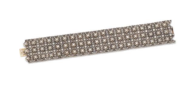 A diamond bracelet, by Mario Buccellati,