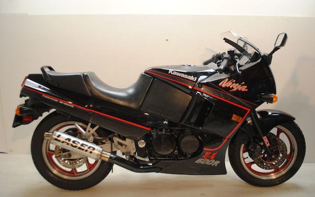 1989 Kawasaki GPX600R Ninja Frame no. JKAZX4C1XKB507357 Engine no. ZX600AE 076208