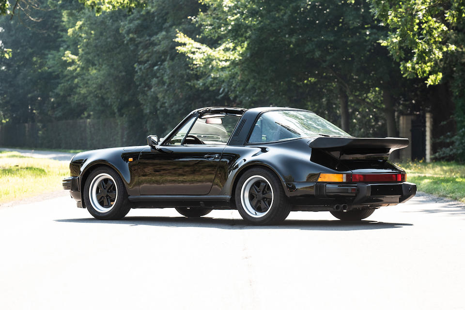 One of only 3 examples delivered new to the Gulf States EU-specifications,1989 Porsche 930 Turbo Targa   Chassis no. WPOZZZ93ZKS010076