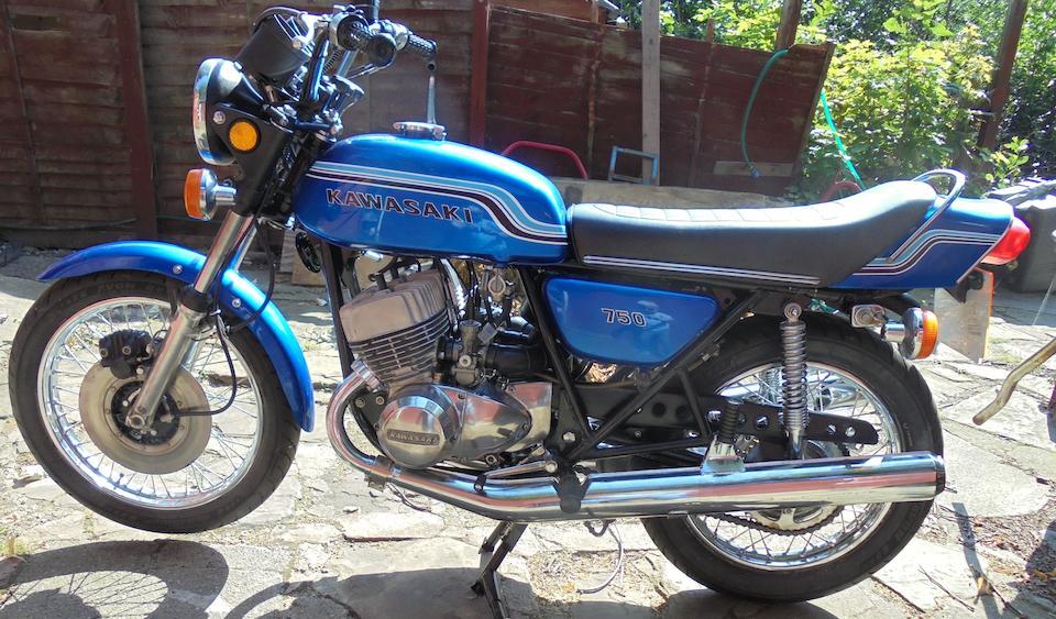 1972 Kawasaki 750cc H2 Mach IV Frame no. H2F-13289 Engine no. H2E-13421