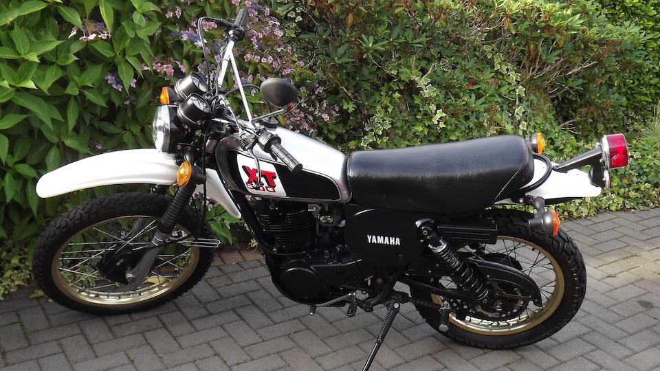 1980 Yamaha XT500 Frame no. 1U6-137185 Engine no. 1U6-137185