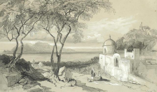 Edward Lear (British, 1812-1888) 'Capri, from above Mafsa'