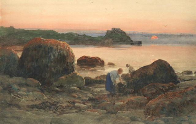 Lexden L. Pocock (British, 1850-1919) A Jersey bay