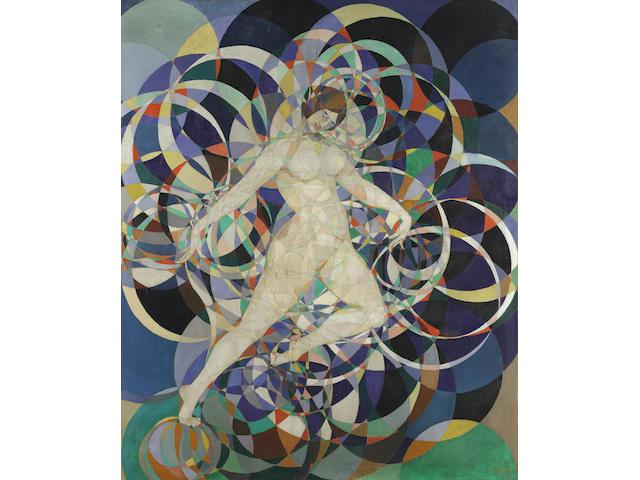 BOLESŁAW BIEGAS (1877-1954) Dans l'arc en ciel (Painted circa 1920 - 1922)