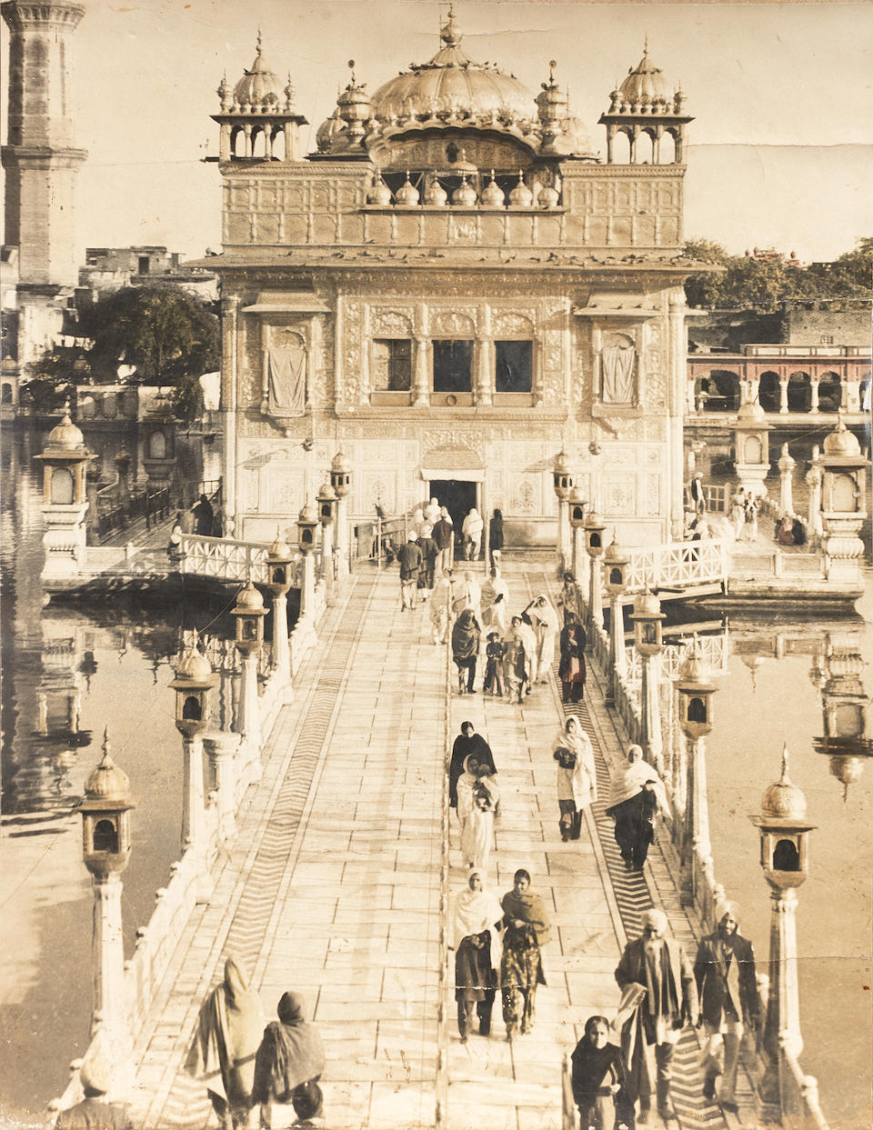 The Golden Temple at Amritsar, viewed from the end of the causeway early 20th Century