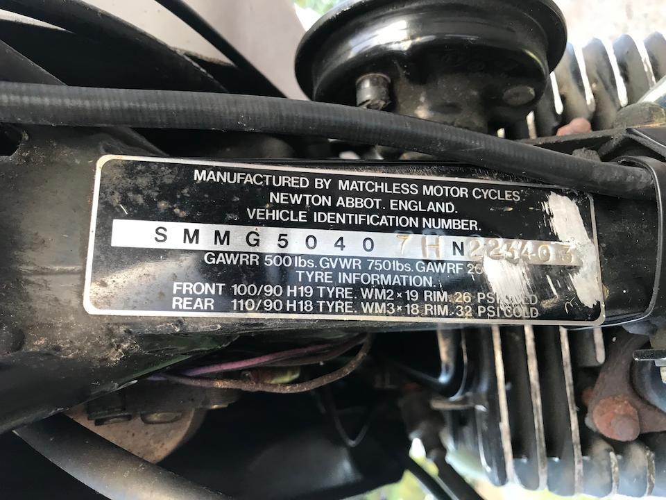 1987 Matchless 494cc G80 Frame no. HN223403 Engine no. 223403