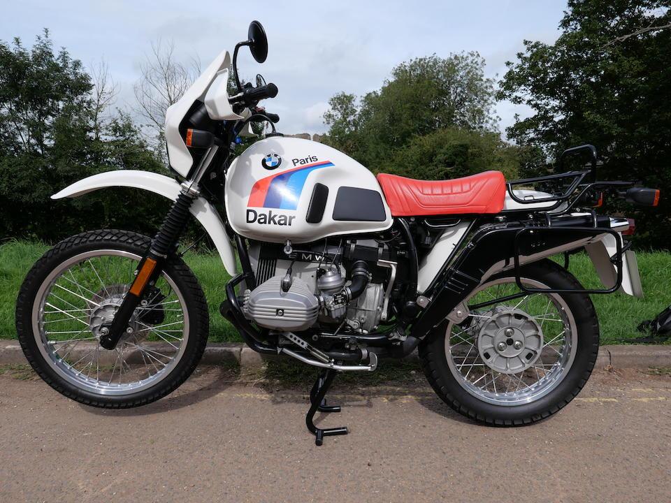 1986 BMW R80G/S Paris Dakar Frame no. 6288188R80GS Engine no. 12/86/0094 802V6