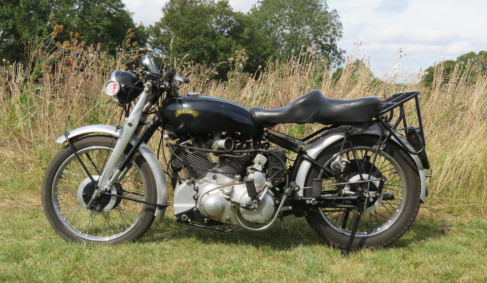 1951 Vincent 998cc Rapide Frame no. RC8316B Rear Frame no. RC7402 (see text) Engine no. F10AB/1/5502 Crankcase mating no's. KK55 / KK55 (see text)