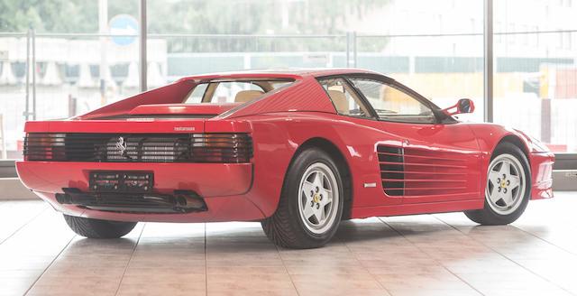 Bonhams 1991 Ferrari Testarossa Coupé Chassis No Zffsa17s000091342