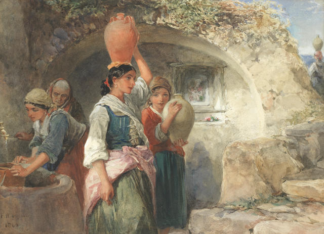 Francis William Topham (British, 1808-1877) Collecting water