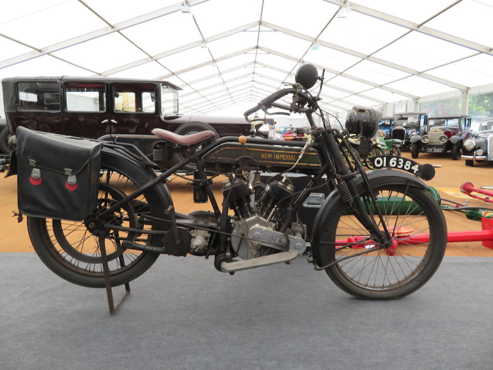 Property of a deceased's estate, 1917 New Imperial 8hp Frame no. A7355 Engine no. 8/67337/A