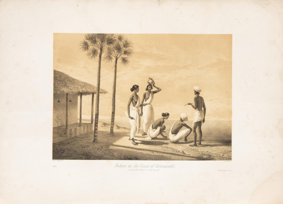 Alexis de Soltykoff (1806-59), Indian Scenes and Characters from drawings made on the spot, with 16 plates, including two of mounted Sikh noblemen London, Smith, Elder & Co., 1858