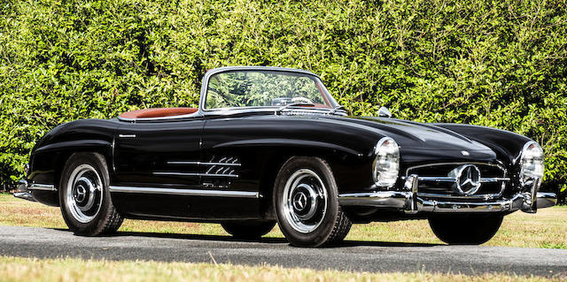 Delivered new to Cannes, France,1957 Mercedes-Benz 300 SL Roadster  Chassis no. 1980427500152 Engine no. 7500177