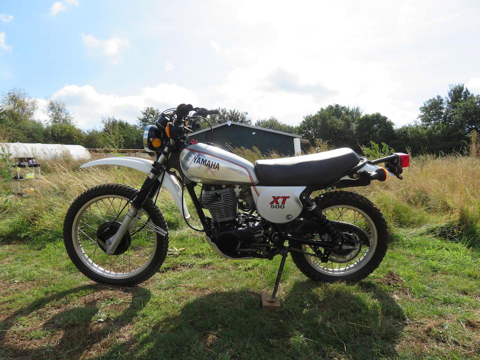 1981 Yamaha XT500H Frame no. 4R9-002162 Engine no. 4R9-002162