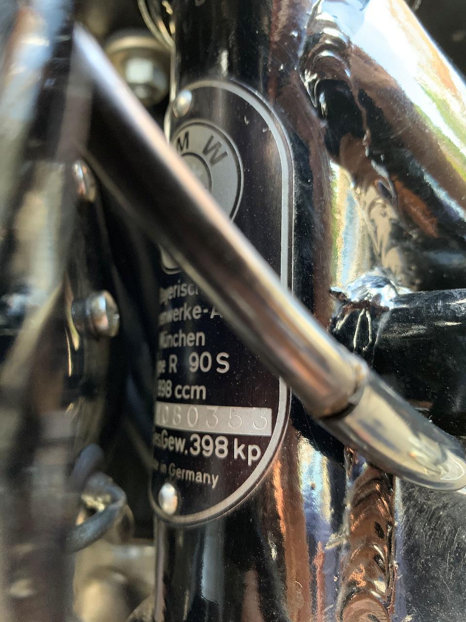 1974 BMW 898cc R90S Frame no. 4080353 Engine no. 4080353